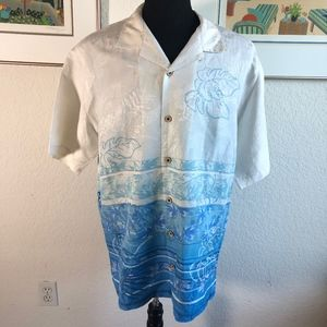Tommy Bahama Floral Camp Shirt Men's Large